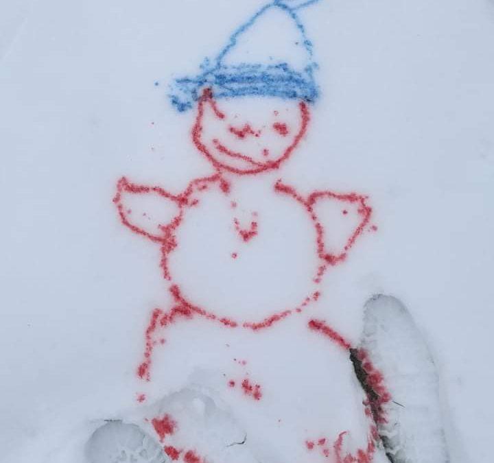 Malování do sněhu